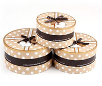 Round hat box wholesale/hot sale custom printed hat box/Cylindrical gift box made in China