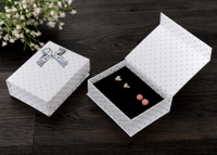 2017 Nice Jewelry Paper Gift Box/mini foldable jewel box/Folding jewelry box/earring box in EECA Packaging