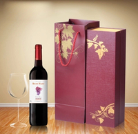 Popular custom paper cardboard single wine gift box with lining wholesale wine crate