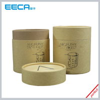 Fashion Design Kraft Paper Box for candle Cylindrical gift box/paper tube box Wholesale in EECA Dongguan